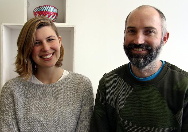 The Better Living Challenge Showcase curators Agata Karolina (left) and Ralph Borland.